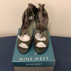 Nine West Wedges with ribbon Brand New Never Worn